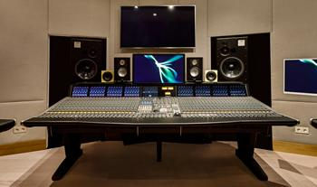 The SSL Duality console in the Palma Music Studios 'Quincy' control room