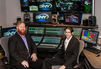 (L-R) Zack Vick, SNY Audio Engineer and Adam Young, SNY Audio Operator.